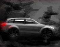 Audi Q7 painting