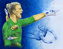 Sports Art - Joe Hart