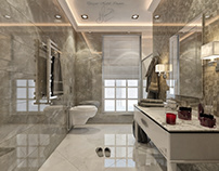 Neoclassic bathroom with grey colors