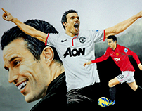Sports Art - Robin van Persie