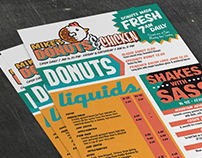 Mike's Chicken and Donuts Menu