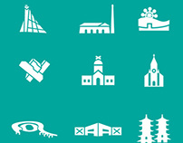Tourisitc Icon Design for Kaohsiung City