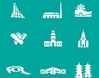 Tourisitc Icon Design for Kaohsiung City