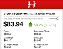 J&J Investor Relations iPhone / iPad App
