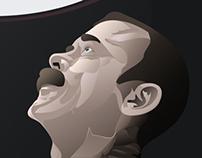 Chris Hadfield Illustration