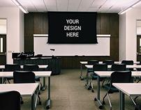 Projector in Classroom mockup