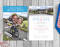 'Karen & Dave' - Caricature Wedding Invitation Suite