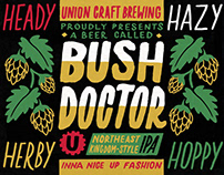 Bush Doctor label design