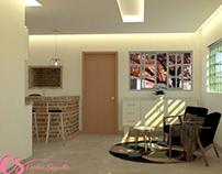 Modelo 3D de Reforma Residencial 2