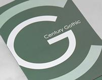 Century Gothic Type Specimen
