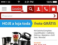 Proposta de site mobile para as Lojas Leader
