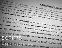 Scripts, Stories and Newspaper column write-ups