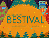 Illustrated festival posters