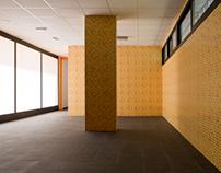 Interior de almacenes y vestuarios. GANA Arquitectura