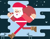 Papá Noel vector JOJOJOJO