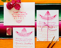 Santa Barbara Fiesta Stamped Bridal Shower Invitation