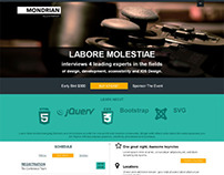Mondrian, Joomla HTML5 CSS3 Creative Portfolio Template
