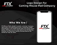 """Logo Design for """"FTX Mouse Pads"""" Company"""