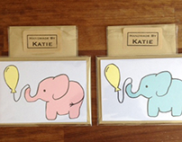 Baby Elephant Greeting Cards - May 2013