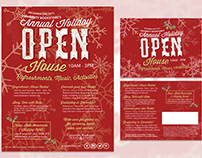 Annual Holiday Open House Flyer / Postcard - 2015