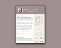 Free Word Resume Template with Creative Design