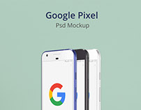 Google Pixel Psd Mockup