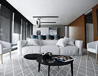 CGI - Living e Cozinha integrados - SP - Brasil