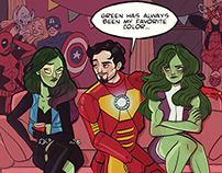 Meanwhile at Stark's house party...
