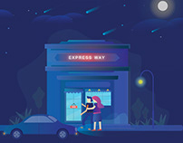 Express way - Shop. Illustrator work