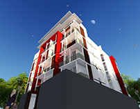Proposed Apartment in Rajagiriya - 3D views