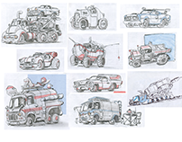 Cars (sketches, part 3)