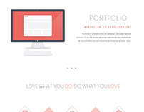 Flat Minimal Magenta Webdesign