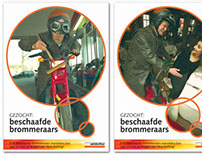 Wintertur: moped insurance poster serie and folder