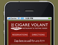 Le Cigare Volant Responsive Website