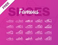 Famous Shoe Icons