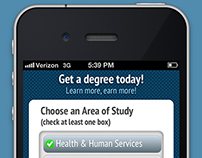 DegreesFinder Mobile Landing Page
