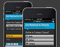 DegreesFinder Mobile Form