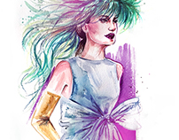 Valentino Spring Haute Couture 2018 illustrations