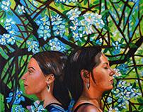 La Famiglia, oil on canvas, 2016