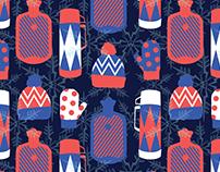 Brrr winter themed fabric design