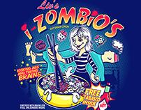 I-Zombio's Cereal Box T-Shirt Design