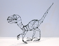 Wire Sculpture Dino