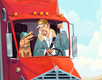 Modern Dog Trucker
