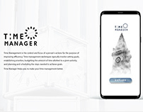 Time Manager - Mobile Application UI Design