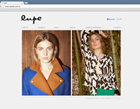 WEB for LUPE (GRAPHIC DESIGN)
