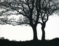 Two Trees Papercut