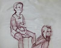 Figure Drawing, children