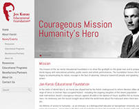 Jan Karski Website Mock Design