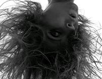 Upside down - black and white portrait 🙃