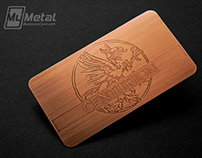 Copper Finish Metal Business Cards